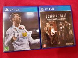 FIFA 18 e Resident Evil: Origins Collection