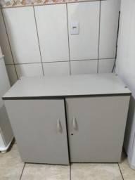 Armário de escritório madeira cinza