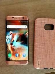 Samsung S7 Edge rosê, sem nenhum arranhão