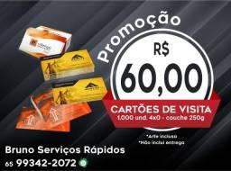 Cartão de Visita 250g 4x0