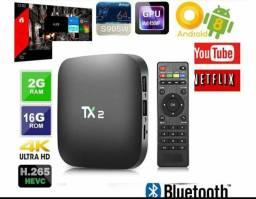 TX9 Tv Box 4k Quad Core 7.1 Wifi bluetooth (Não Trava)Loja Fisica