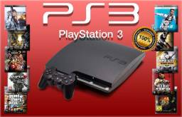 PS3 PlayStation 3 SLIM 160gb com 20 jogos completos