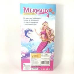Boneca Sereia Articulada 30 cm Rosa - Mermaid Glamour Girl