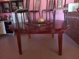 Título do anúncio: Mesa de madeira redonda grande