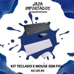 Kit Teclado e Mouse Sem Fio Wireless Bluetooth
