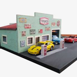 Diorama posto vintage Texaco maquete cenario 1/64