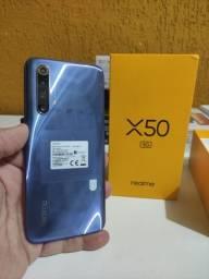 Título do anúncio: Realme X50 5 G, 128 gigas, 6 GB de ram .Whats *..