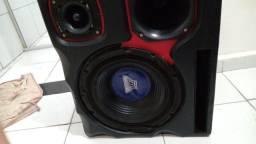 Trio de caixa de som