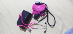 Título do anúncio: Kit aparelho de pressão (esfigmomanômetro) + estetoscópio