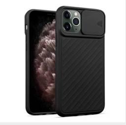 Case / Capinha Transparente todos modelos iPhone com proteção de câmera