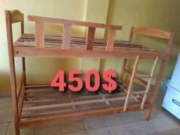 Beliche e cama solteiro madeira