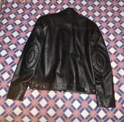 Jaqueta de Couro Legítimo Motoqueiro