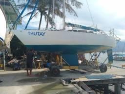 Veleiro Monocasco Samoa 28 pés. motor de centro diesel.