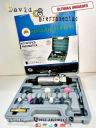 "Micro Retífica Pneumática C/ Maleta 16 Peças ""NOVA"""