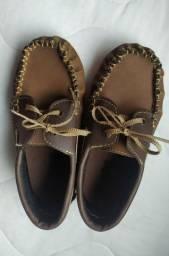 Sapato de couro- infantil- Tam. 25