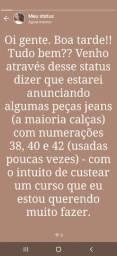 Vendo peças jeans, usadas poucas vezes