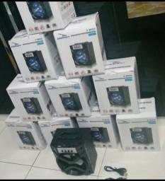 Sua caixa de som Bluetooth Portatil entrada pendrive, sd e Fm