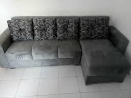 Sofá dubai 3 lugares + chaise com almofadas só 749.00 avista