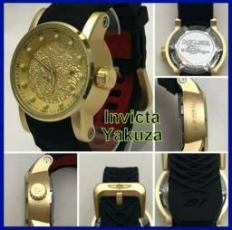 Relógio Invicta Yakuza S1 Dragon unisex resistente a água, aceito cartão de débito e crédi