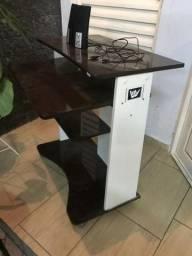 Desapego! Mesa De Computador + Cadeira + Caixinha de Som