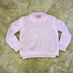 Blusa pituchinhus lã com brilho T4 R$ 30,00