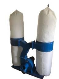Marcenaria: Coletor de Pó Duplo 4 Cv trifásico p/ esquadrejadeira, coladeira, seccionadora