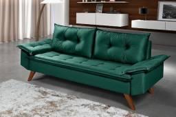 Sofa Bariloche 3 Lugares Essencial Estofados 9 Cores Disponíveis Tecido Suede