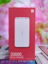 Bateria externa da Xiaomi 20.000 mAh! Novo Lacrado com entrega hj!