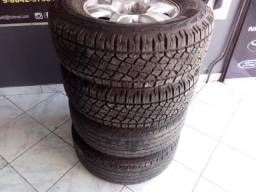 Jogo de rodas c/ pneus meia vida