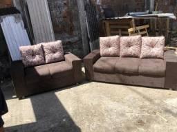 Conjunto de sofá 2 e 3 lugares 10x direto de fábrica + brinde