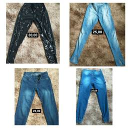 Calça Jeans e Calça Jocker feminina