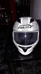 Capacete Helmets Shox Branco Infantil num 54