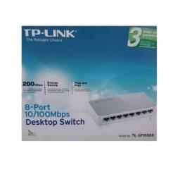 Switch 8 Portas Fast Ethernet Tp-link Tl-sf1008d 10/100 Mbps