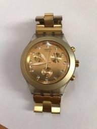 Relógio swatch (original) irony diaphane dourado