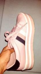 Tênis Vizzano plataforma listrada feminino -rosa