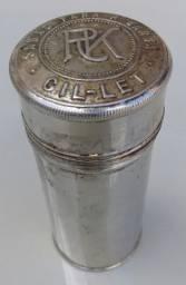 Embalagem metálica antiga/sabão para barba Gil - LET, muito rara!