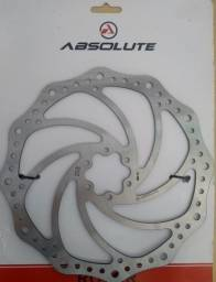 Disco Rotor Freio Bike Absolute Yrt01 Inox 160mm 180mm 203mm