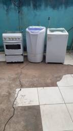 2 máquina de lavar 1 fogão