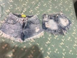 2 shorts jeans infantil