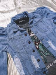 Jaqueta jeans G com etiqueta
