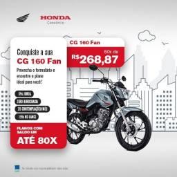 Título do anúncio: Vende se Honda cg fan 160 2021