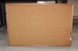 Lousa / Quadro de Avisos em MDF Marrom 61 cm x 90 cm x 2 cm