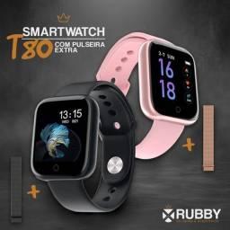 Relógio Smartwatch T80 Duas Pulseiras