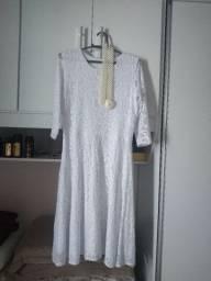 Vestido casamento civil, usado somente uma vez, já vem com a cinta, tamanho G,