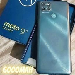 Título do anúncio: Moto G9 Power 128GB NOVOS Lacrados Aceito Cartão