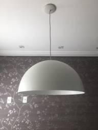 LUSTRE PENDENTE BRANCO 55cm