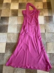Vestido de festa longo rosa pink