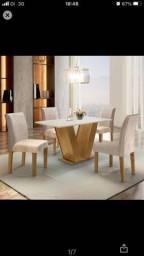 Conjunto Sala de jantar mesa tampo MDF com 4 cadeiras espanha