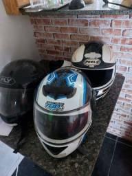 Título do anúncio: 3 capacetes