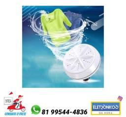 Título do anúncio: Mini máquina de lavar roupa portátil turbinas ultrassônicas rotativas   só zap